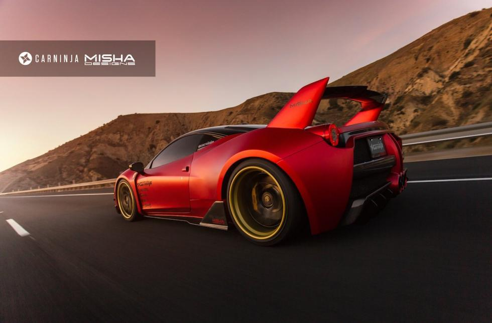 Ferrari 458 Italia by Misha Designs tres cuartos trasero