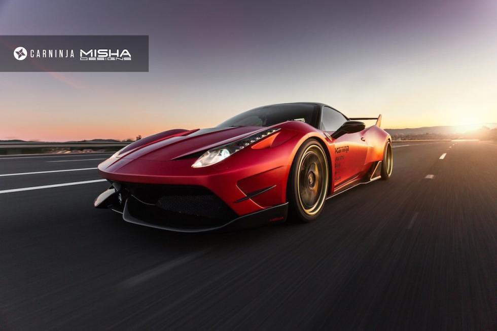 Ferrari 458 Italia by Misha Designs tres cuartos delanteros