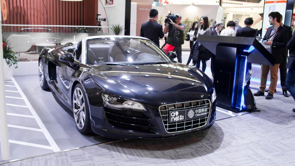 Mobile World Congress MWC audi r8 spyder