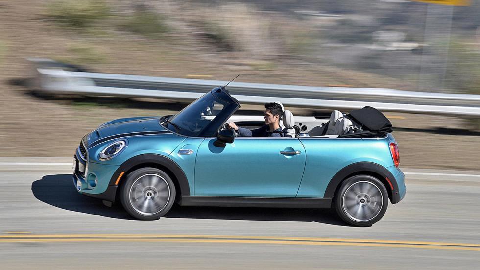 Mini Cooper S Cabrio carretera barrido