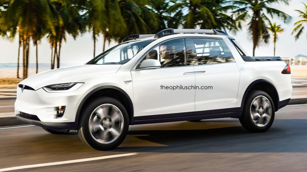 Tesla Model X pick up delantera