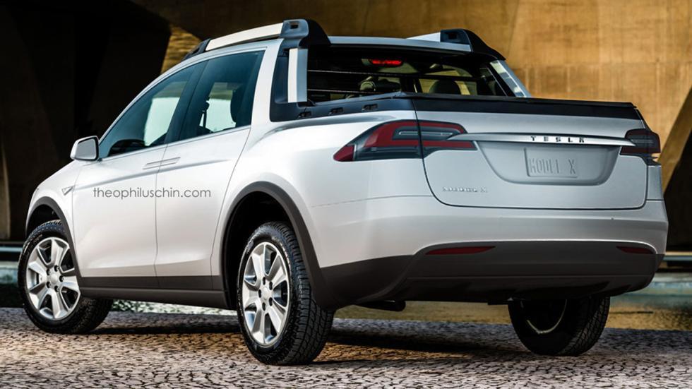 Tesla Model X pick up trasera