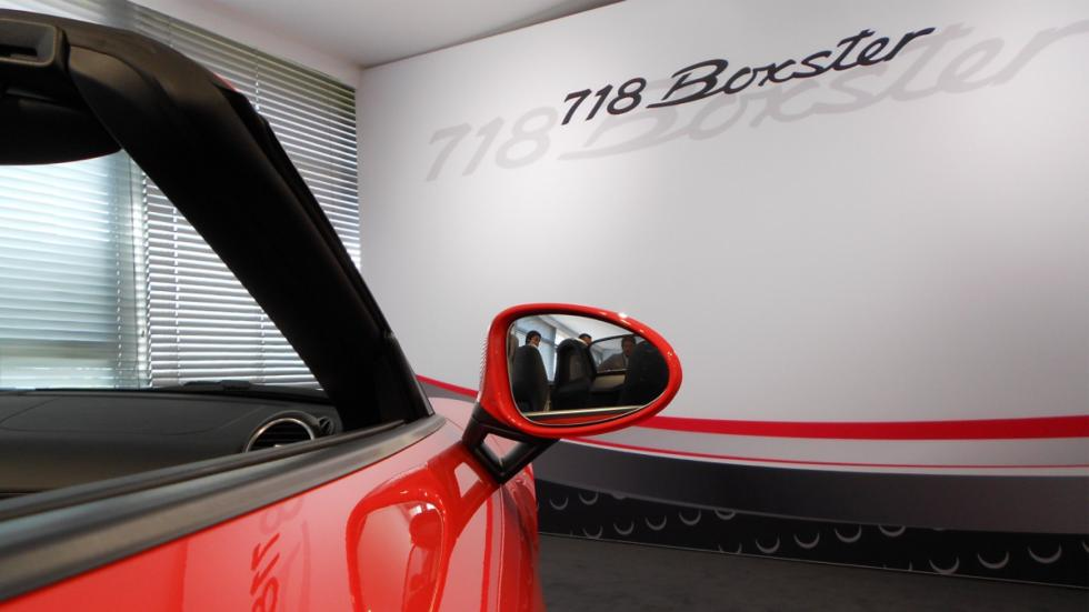 espejos retrovisores del porsche Boxster 718