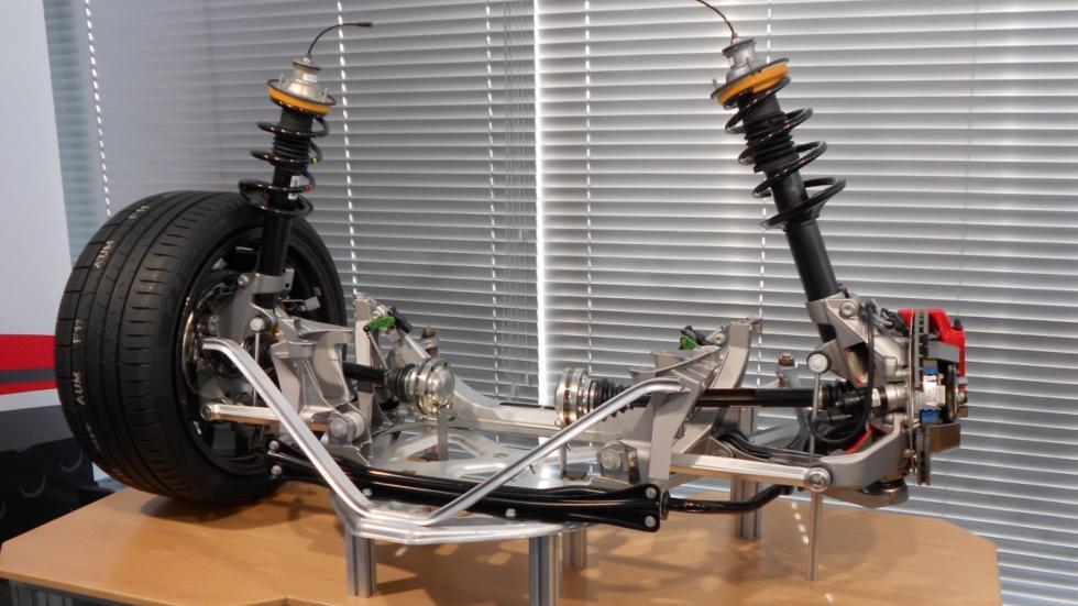 Eje trasero del Porsche 718 Boxster