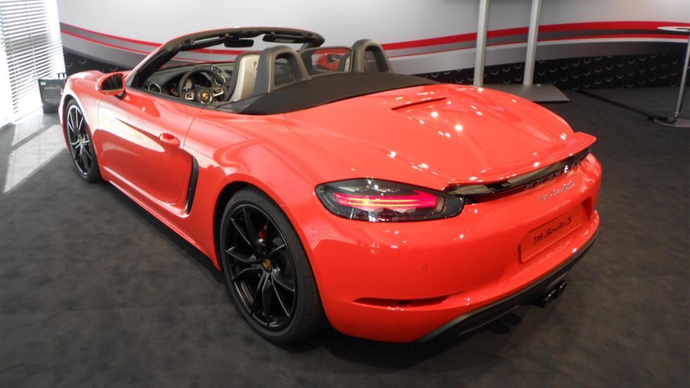 diseño del Porsche 718 Boxster