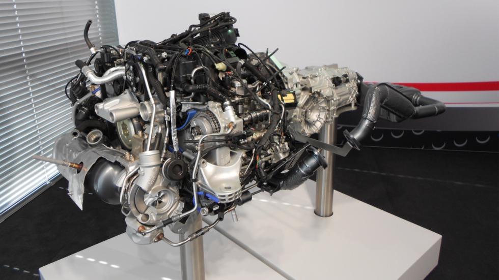 motor del 718 tiene una configuración asimétrica