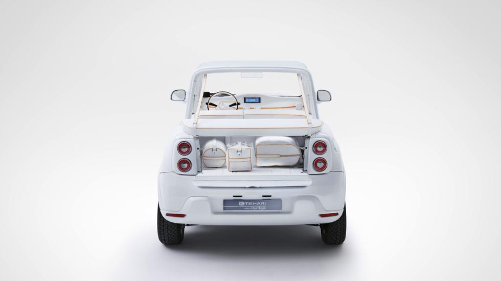 Citroën E-Mehari by Courrèges maletero
