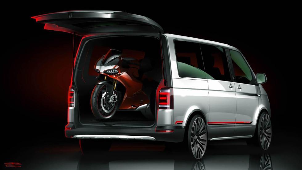 Volkswagen Multivan Panamericana concept moto ducatti