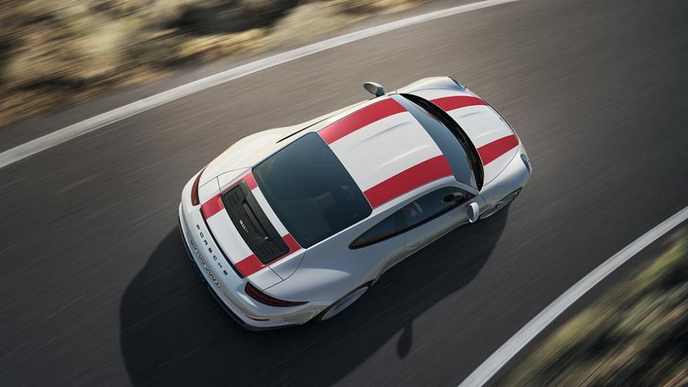 Nuevo Porsche 911 R aérea