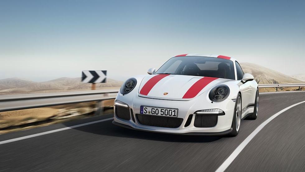 Nuevo Porsche 911 R tres cuartos delanteros