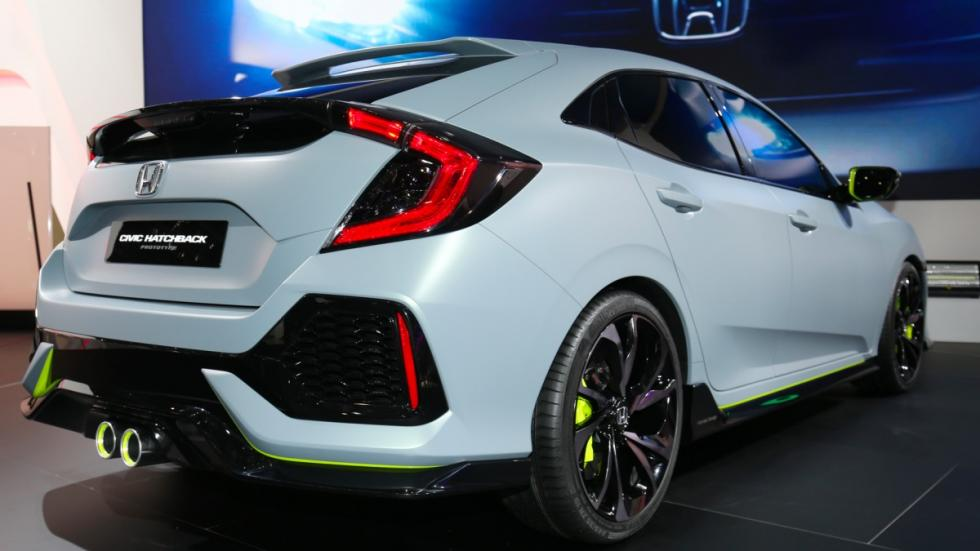 Honda Civic Hatchback Prototype trasera