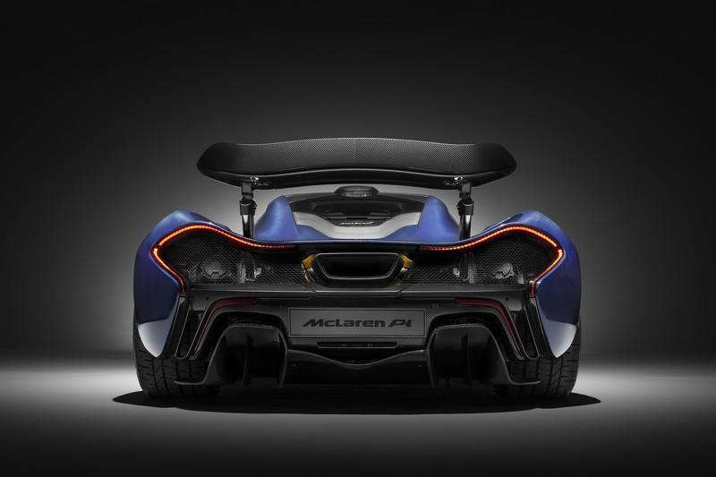 McLaren P1 de fibra de carbono  trasera