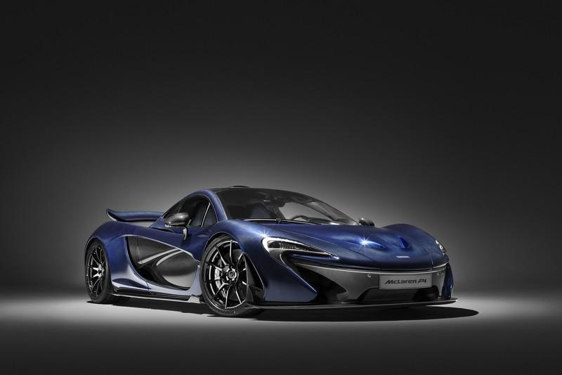 McLaren P1 de fibra de carbono tres cuartos delanteros