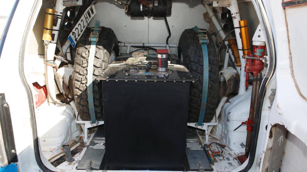 Prueba, Mitsubishi Montero Dakar, maletero