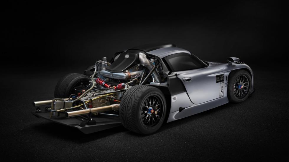 porsche 911 GT1 1997 motor sin tapa