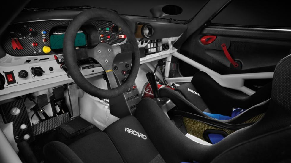 porsche 911 GT1 1997 habitáculo