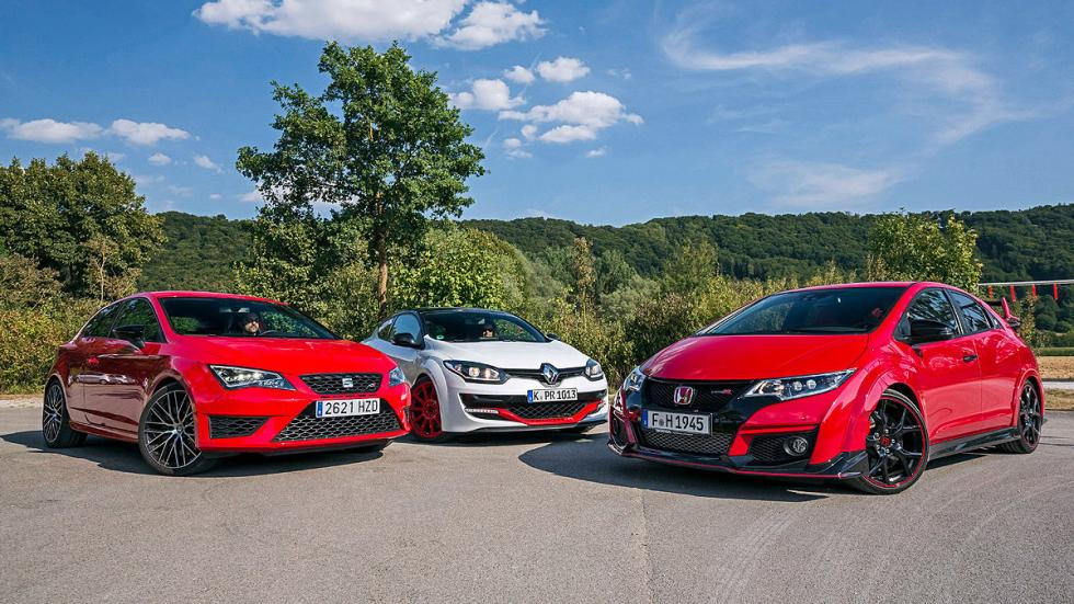 Comparativa radical: Civic Type R/Mégane RS/Leon Cupra