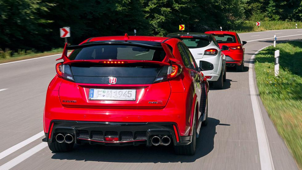 Comparativa radical: Civic Type R/Mégane RS/Leon Cupra 2