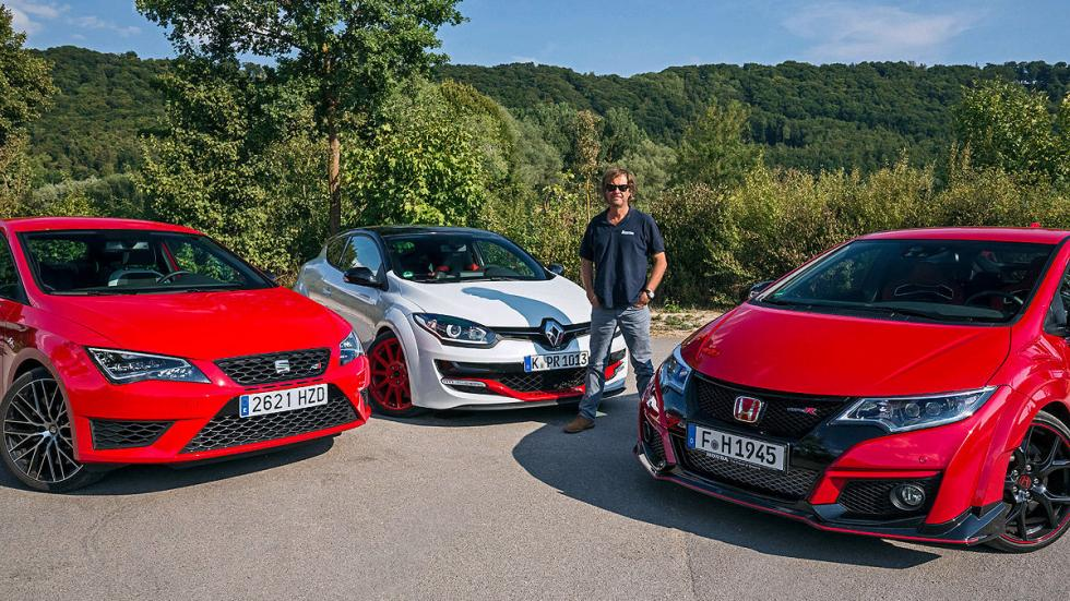 Comparativa radical: Civic Type R/Mégane RS/Leon Cupra 3