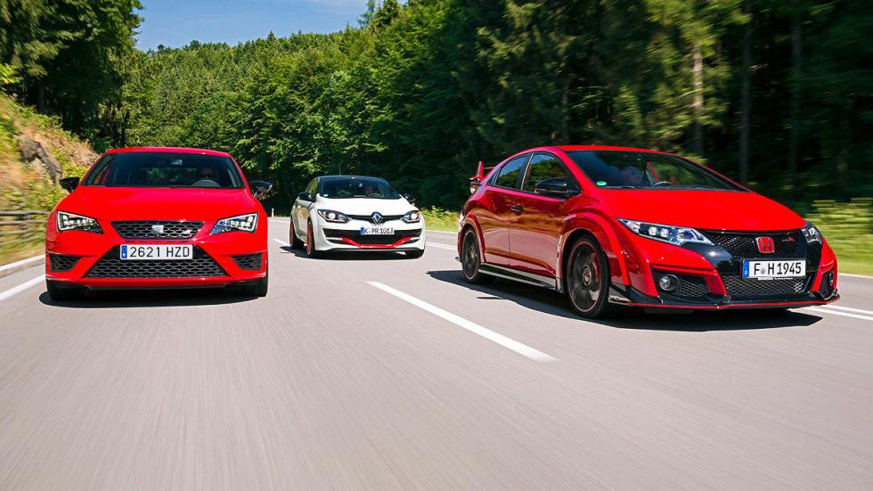 Comparativa radical: Civic Type R/Mégane RS/Leon Cupra 7
