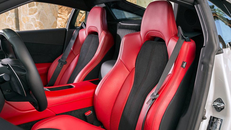 Honda NSX 2016 frontal asientos