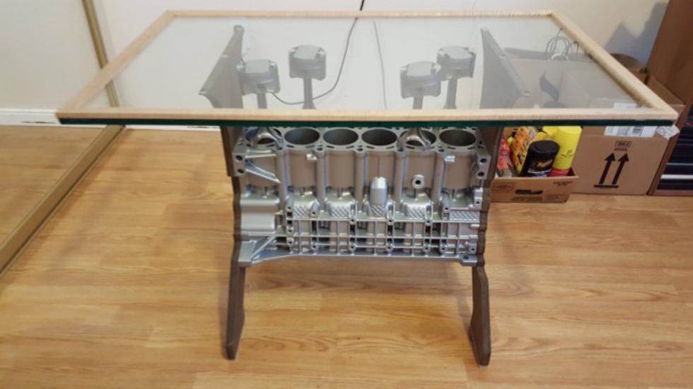 finalizada mesa cafe piezas bmw