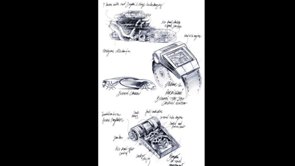 bocetos reloj lujo