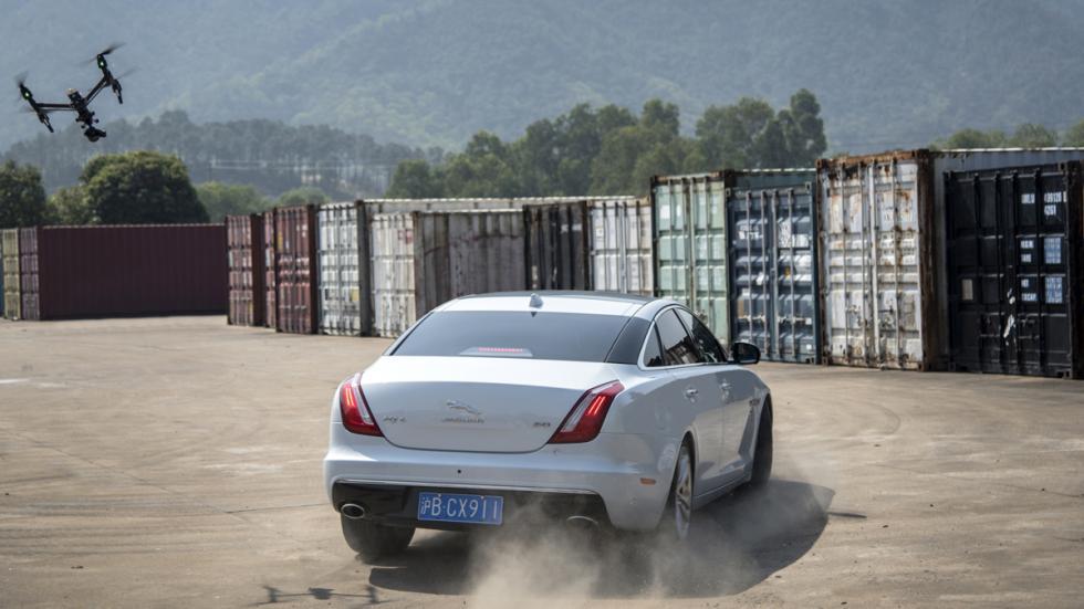 jaguar xj curva carrera