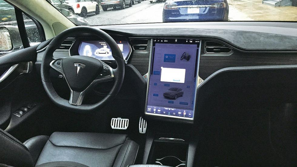 Prueba: Tesla Model X P90D 2016 interior