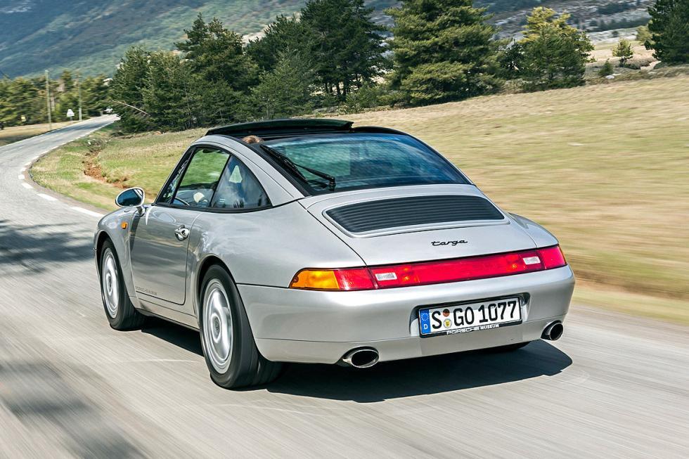 Porsche 911 Targa barrido zaga