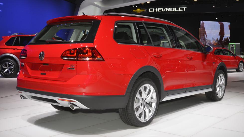 Volkswagen Golf Alltrack mercado de Estados Unidos popa