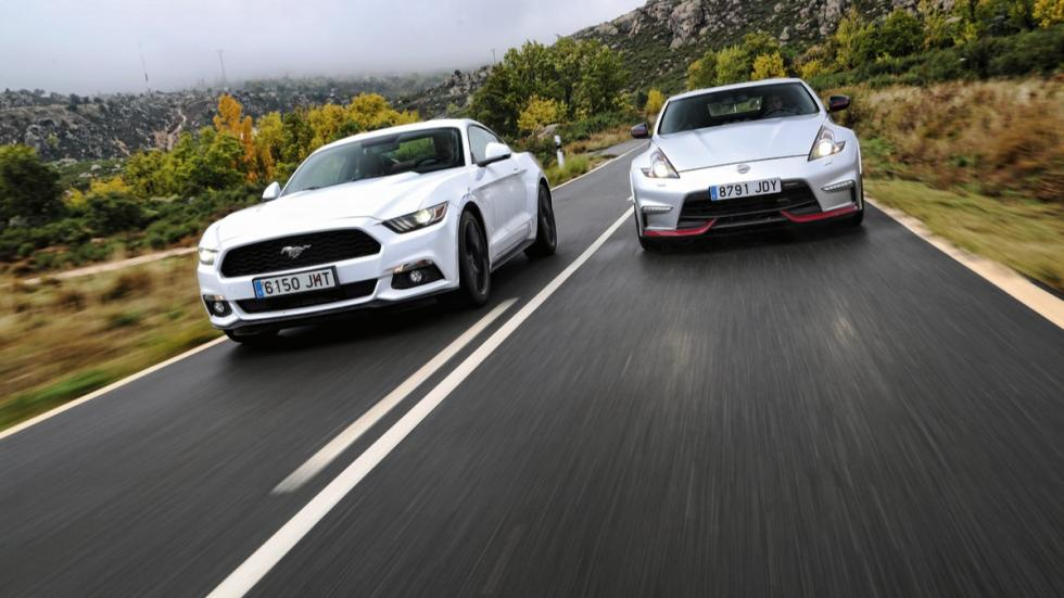 Comparativa Ford Mustang/Nissan 370Z frontal
