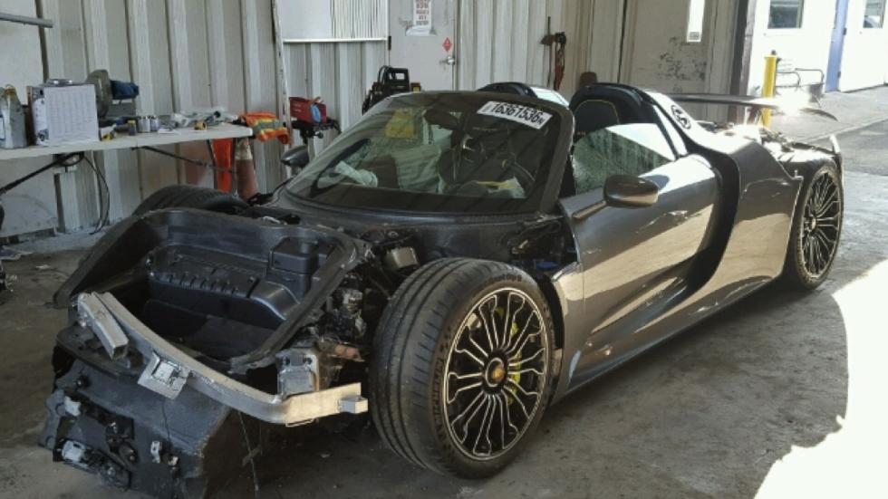 Porsche 918 Spyder accidentado frontal
