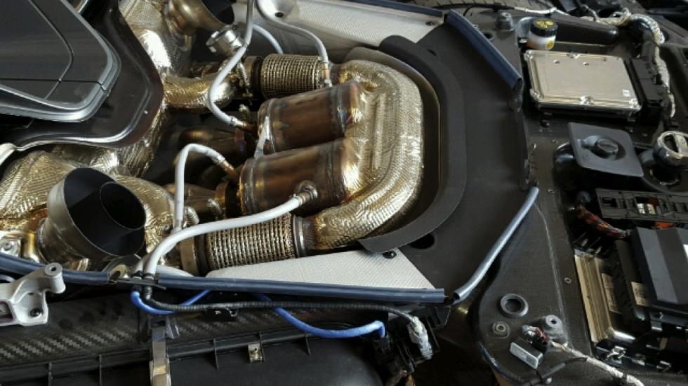 Porsche 918 Spyder accidentado motor