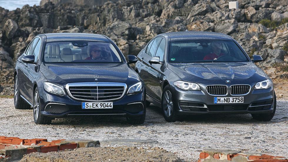 BMW Serie 5 y Mercedes Clase E