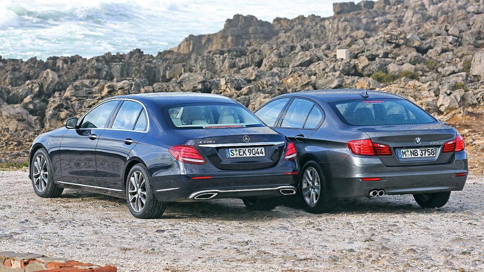 BMW Serie 5 y Mercedes Clase E zagas