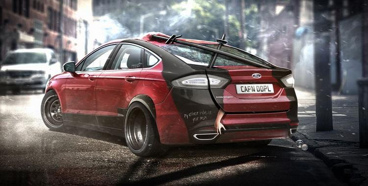 El Ford Fusion de Deadpool