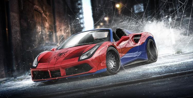 El Ferrari 488 Spider de Spiderman