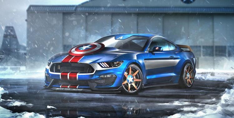 El Shelby GT350R del Capitán América