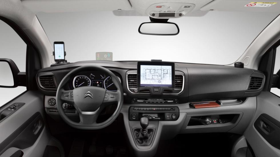 habitáculo de la Citroën Jumpy