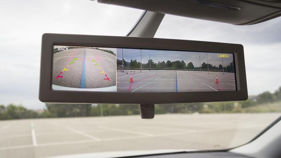 asistente aparcamiento retrovisor