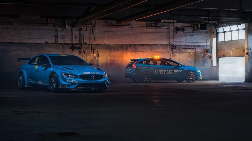 Volvo V60 Polestar Safety Car del WTCC tres cuartos delanteros