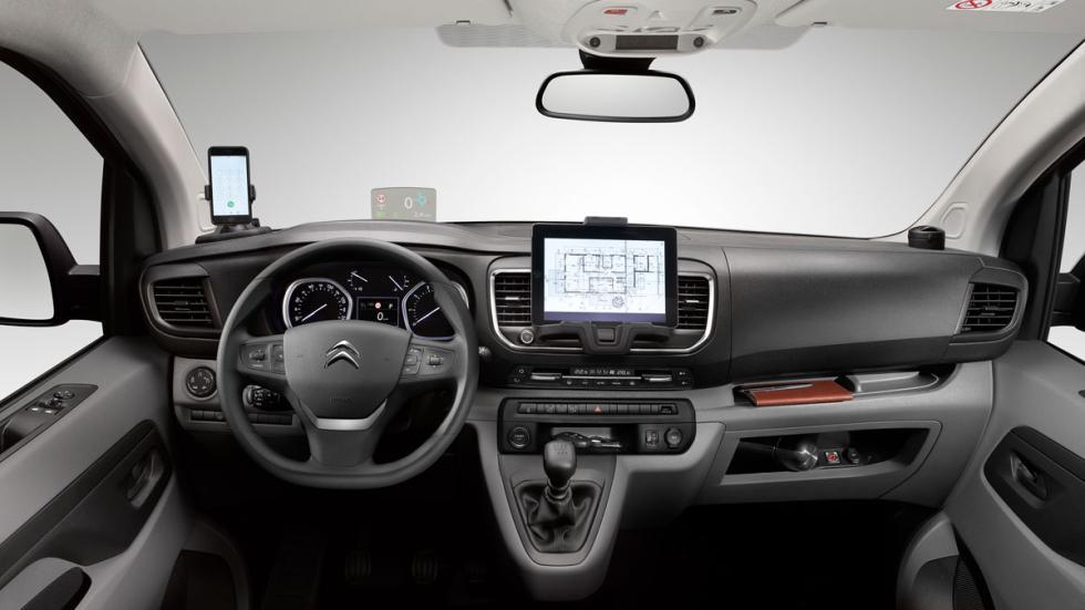 habitáculo de la Citroën Jumpy 2016