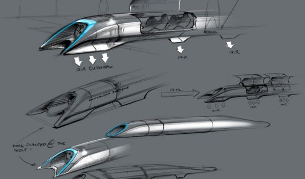 Hyperloop Boceto 1