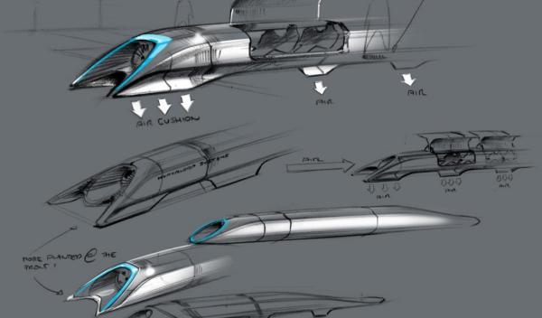 Hyperloop Boceto 1