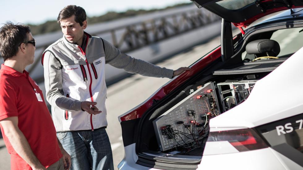 AUTOBILD.ES con el Audi RS 7 autónomo en Ascari