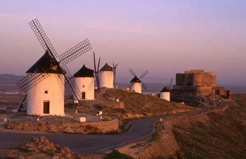 Los Molinos, en la Ruta de Don Quijote.