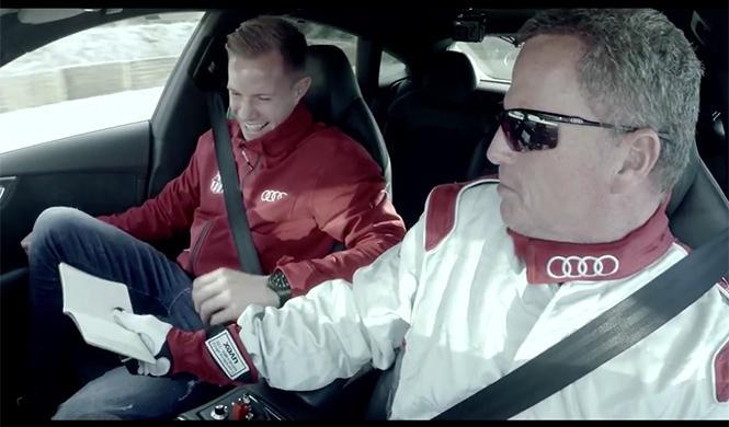 plantilla del Barça se sube al Audi RS7 que conduce solo 5