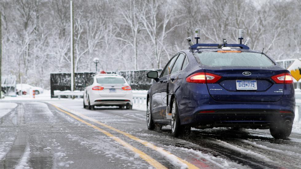 ford mondeo autonomo prueba nieve