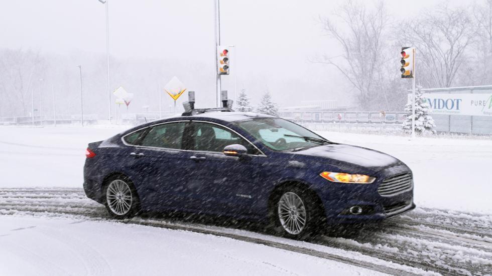 prueba ford mondeo autonomo nieve